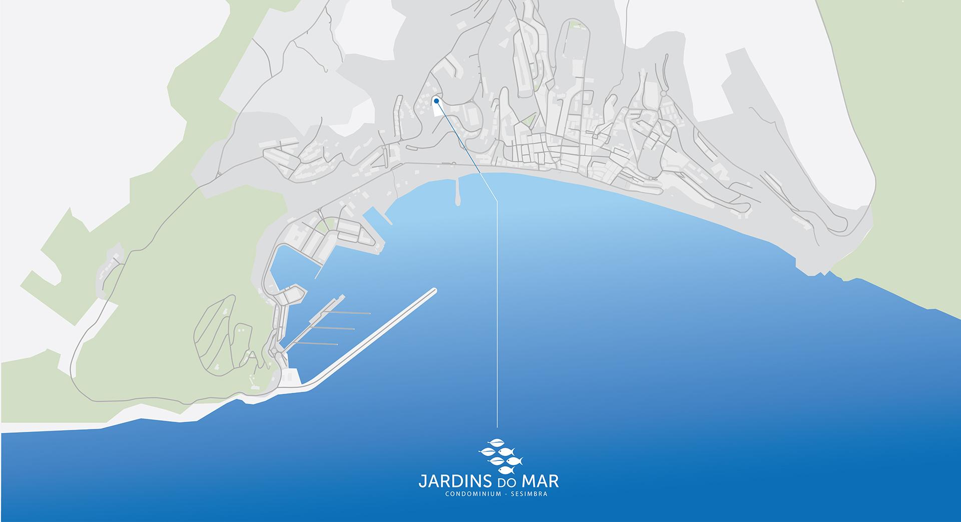 Jardins do Mar Map